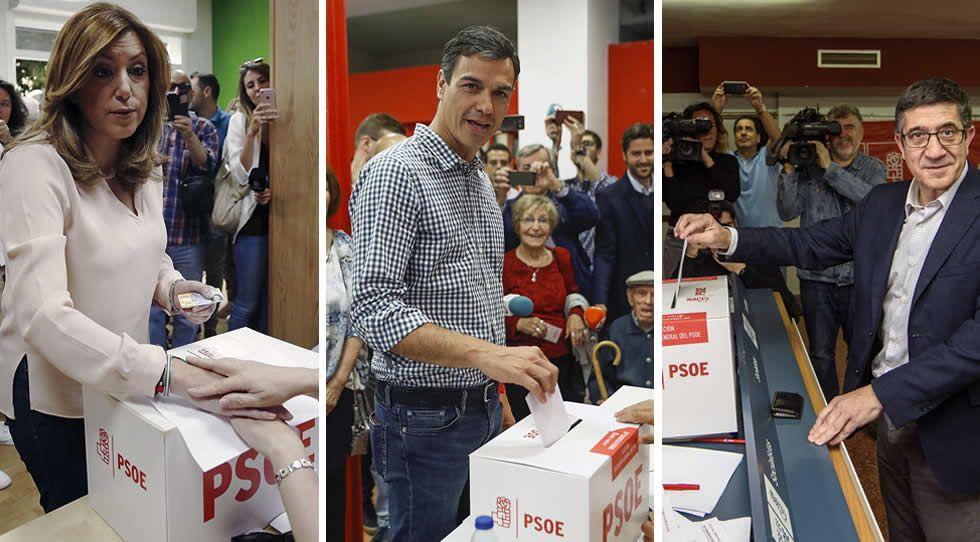 Los partidarios de Sánchez celebran la victoria al grito de «Sí es sí»