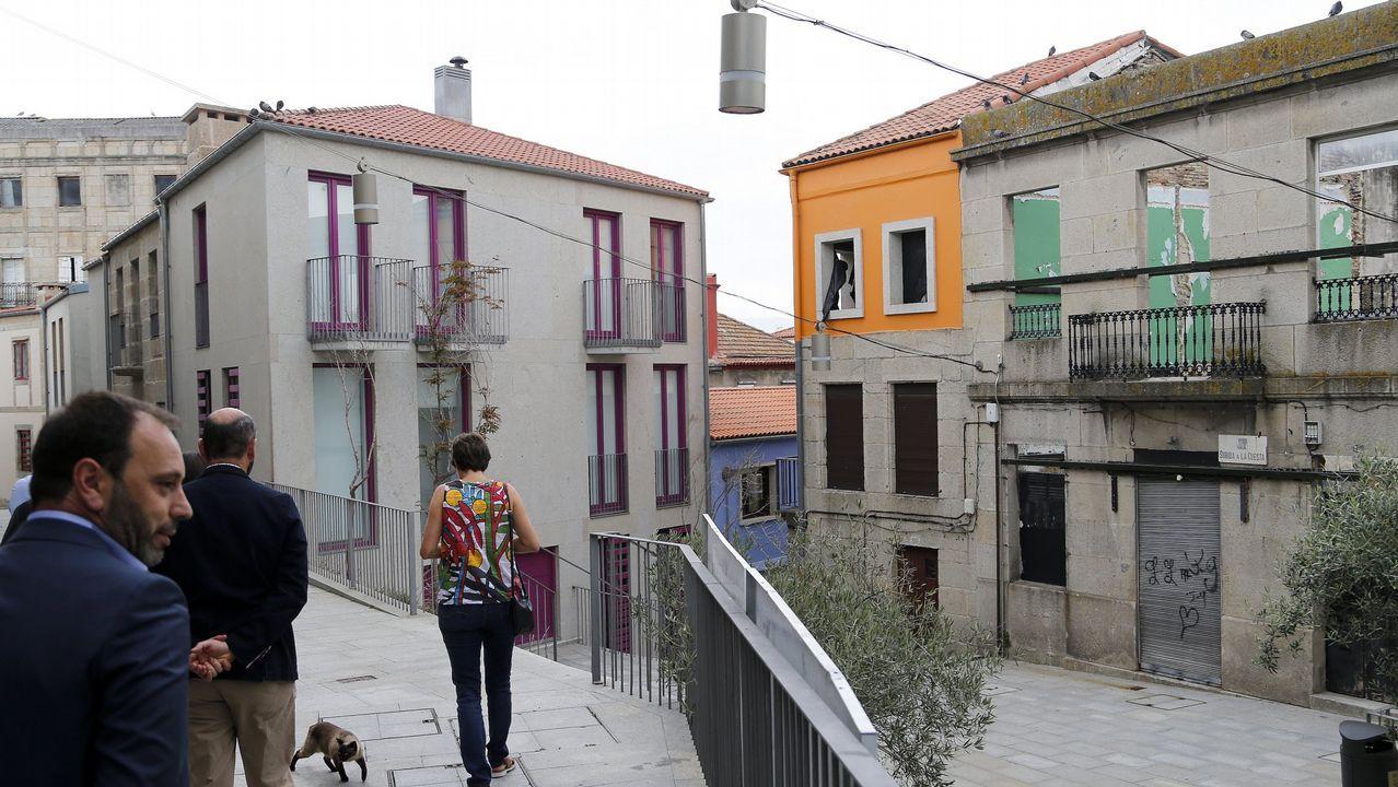 Gómez-Limón pide el voto para el BNG.Rehabilitación de inmuebles en el Casco Vello de Vigo