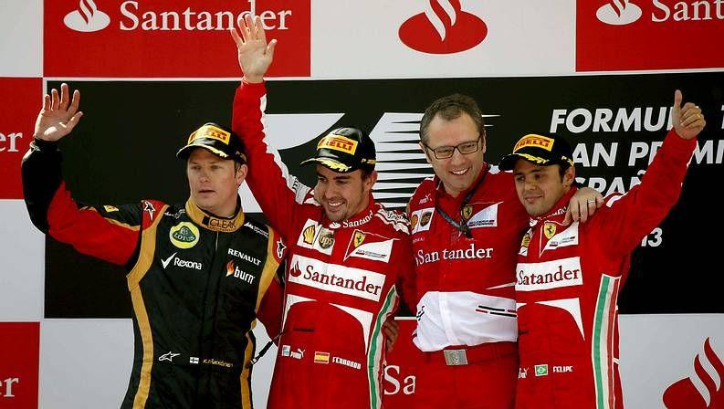 Las imágenes del Gran premio de Suzuka de Fórmula 1.Raikkonen, Massa y Alonso, en Barcelona
