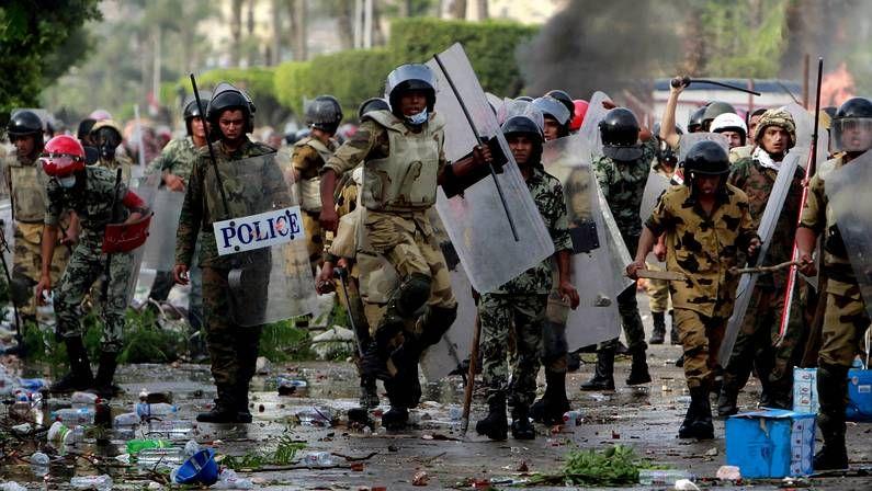 Mursi, en un acto de la campaña electoral