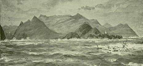 Así fue recreado en una ilustración de aquella época el naufragio del Salier.