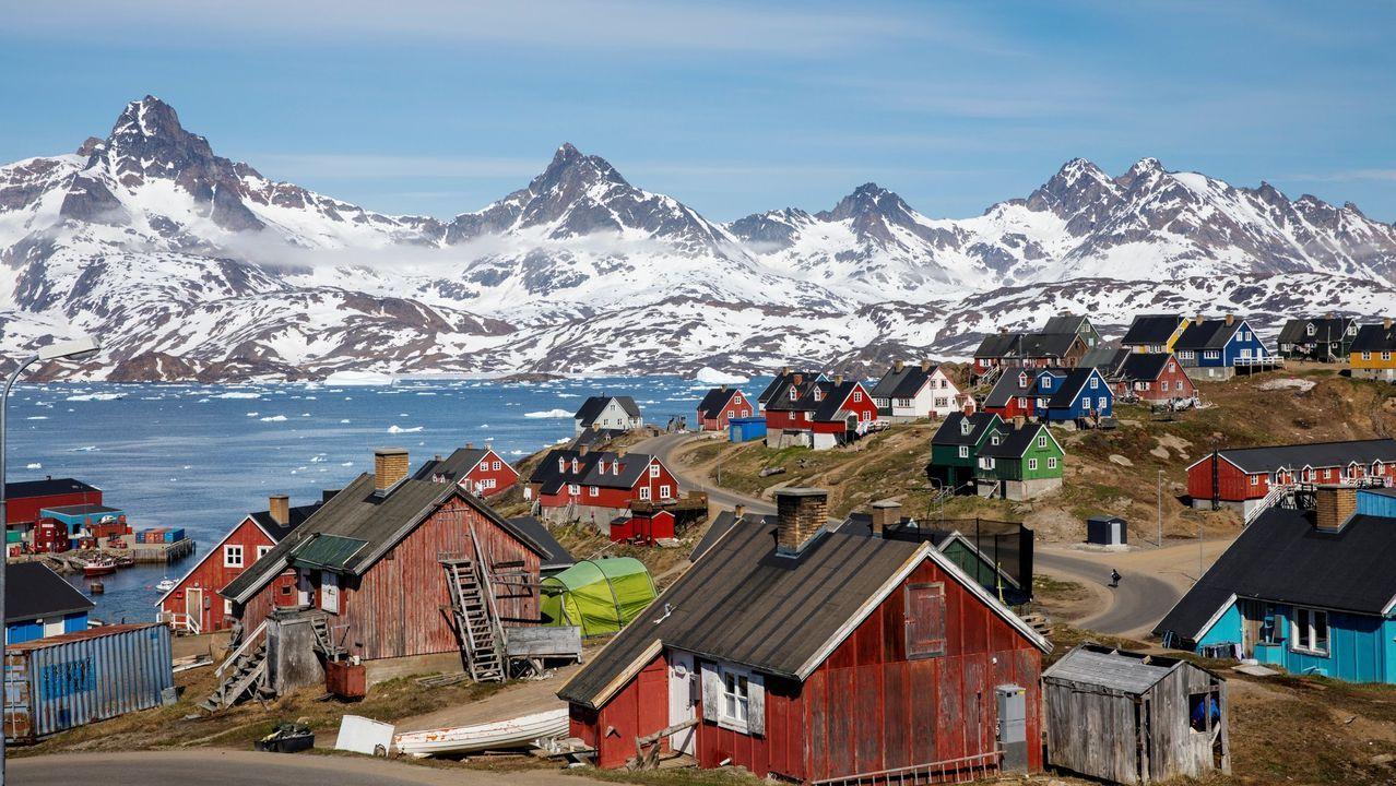 Pueblo de Tasiilaq, en Groenlandia