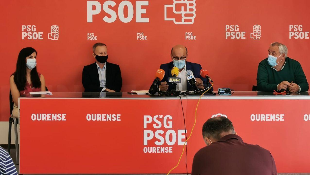 Rueda de prensa del PSOE sobre las becas del Gobierno central para estudiantes