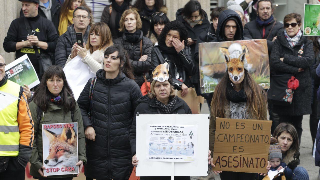 Concentración contra la caza del zorro en Vigo
