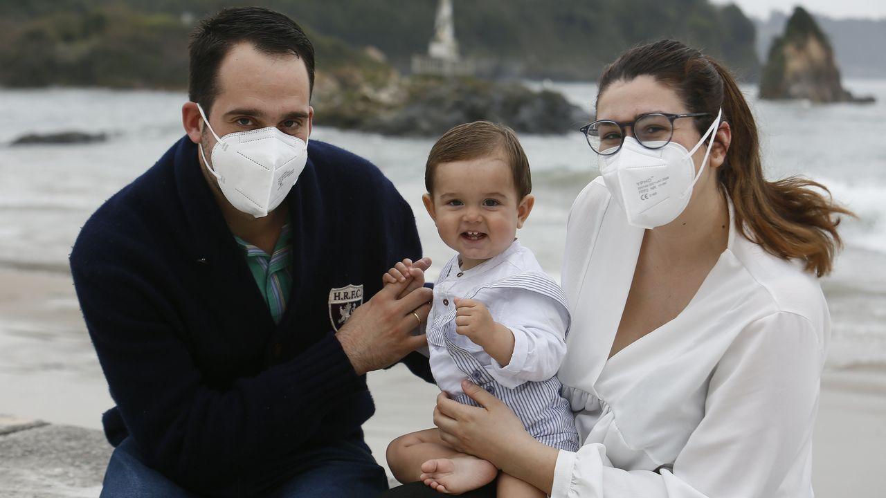 Patricia Pérez con su marido y su hijo Lucas, que cumplió un año el 17 de marzo