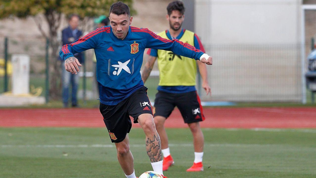 Aspas sigue preparando los compromisos con la selección española
