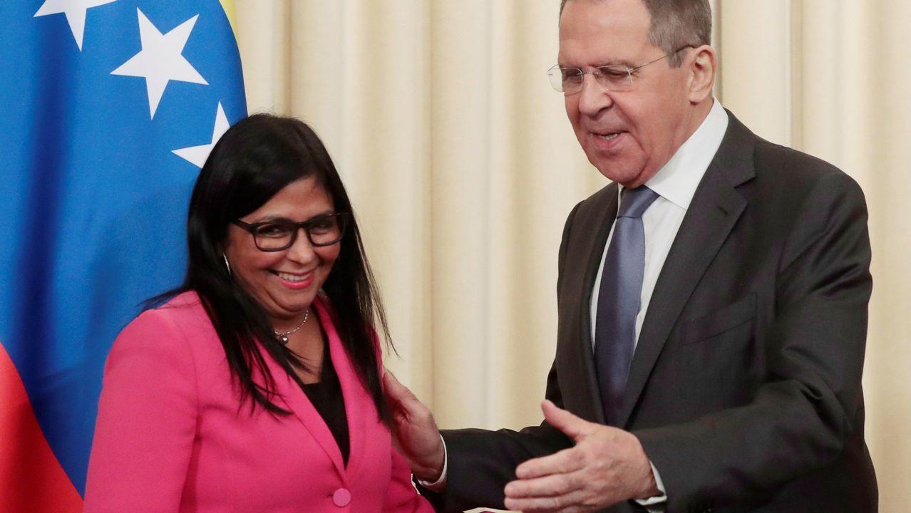 El jefe de la diplomacia rusa recibió en Moscú a la vicepresidenta Delcy Fernández