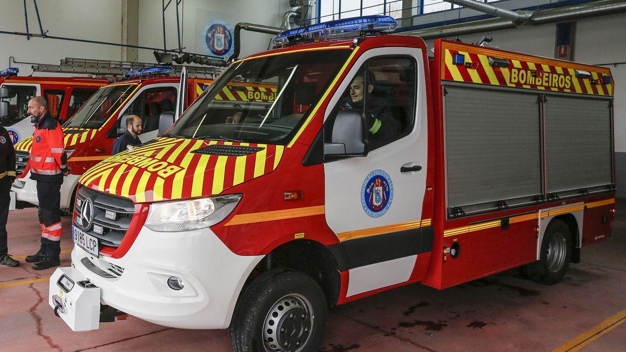 Sesenta días de alarma.En la excarcelación de la mujer participaron los bomberos de Xinzo