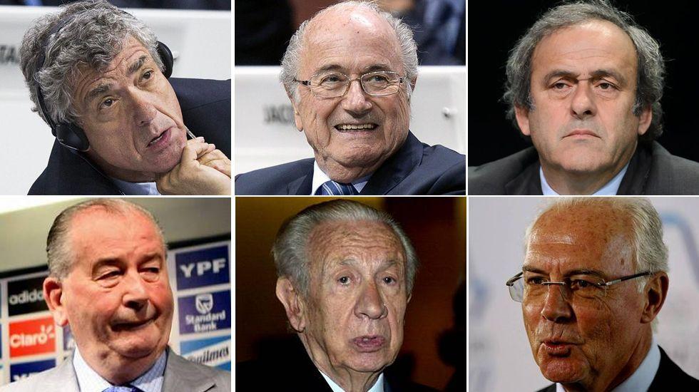 Algunos de los implicados en las tramas de corrupción de la FIFA.Pérez, en un acto sobre empresas familiares, en 2004