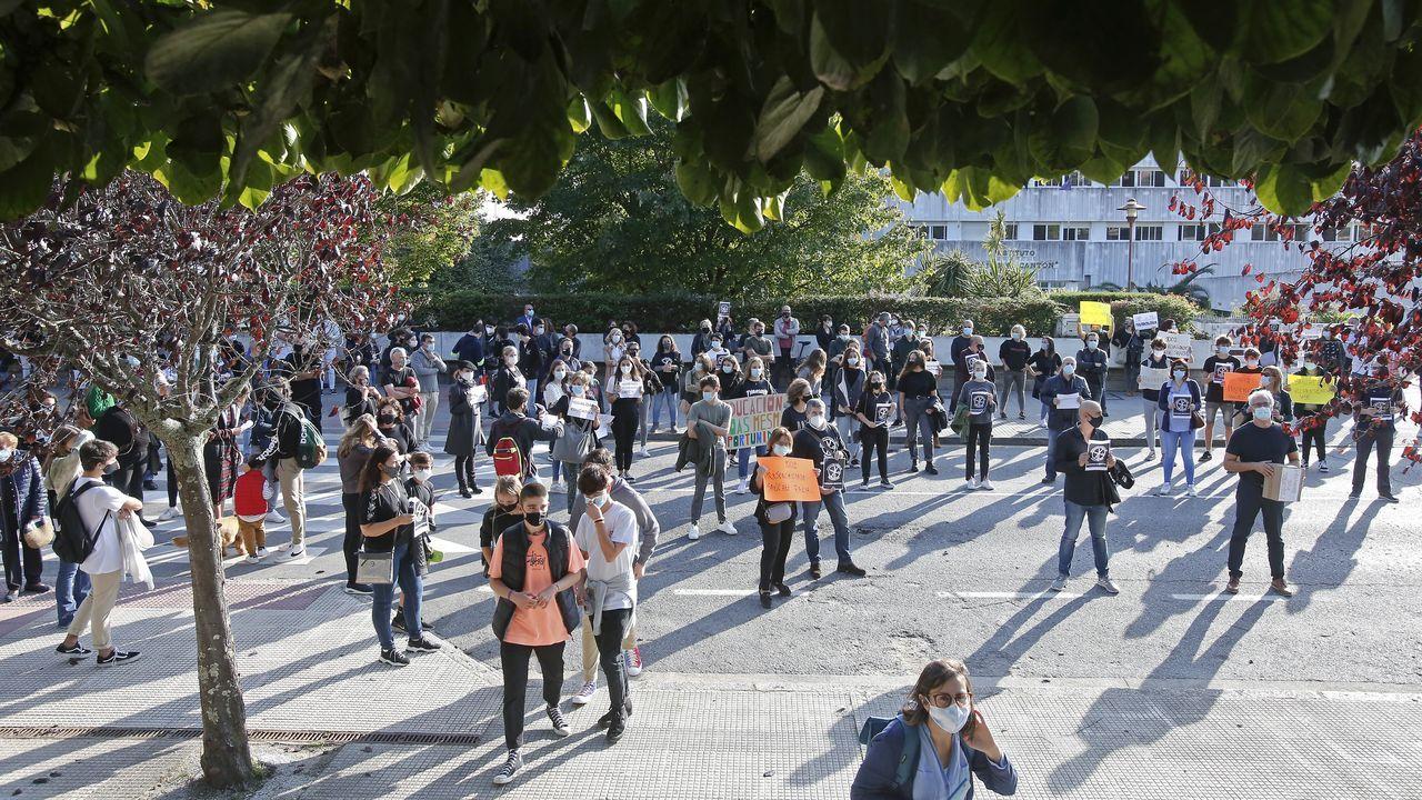 Una de las protestas llevadas a cabo por los padres de alumnos de bachillerato del IES Sánchez Cantón durante este curso