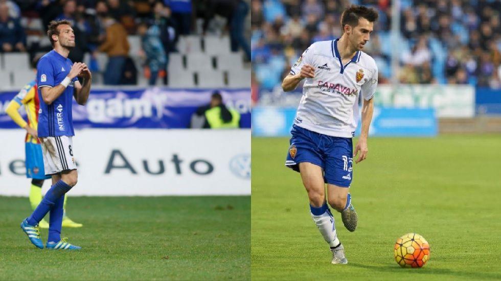 Paisaje seco de Ponga.Michu y Manu Lanzarote, jugador del Zaragoza y ex del Real Oviedo