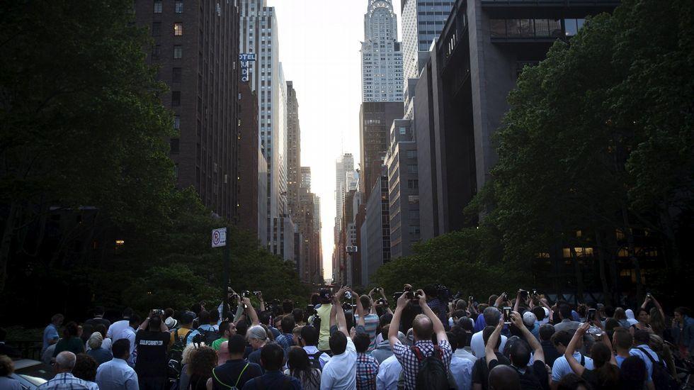 El Manhattanhenge del año pasado, julio de 2014