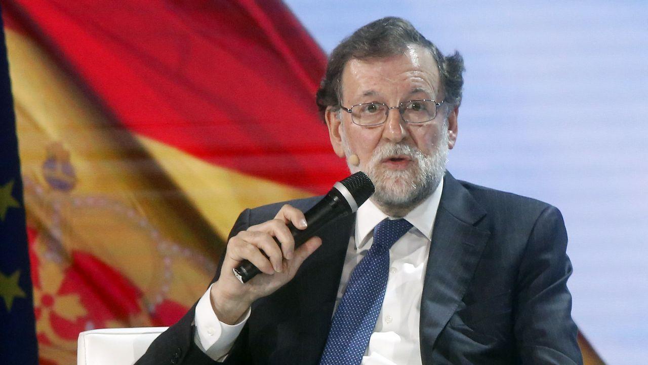La convención del PP, en imágenes.Pablo Casado y Juanma Moreno en la convencio´n del PP