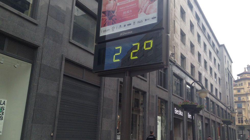 Termómetro en Oviedo.Termómetro en Oviedo