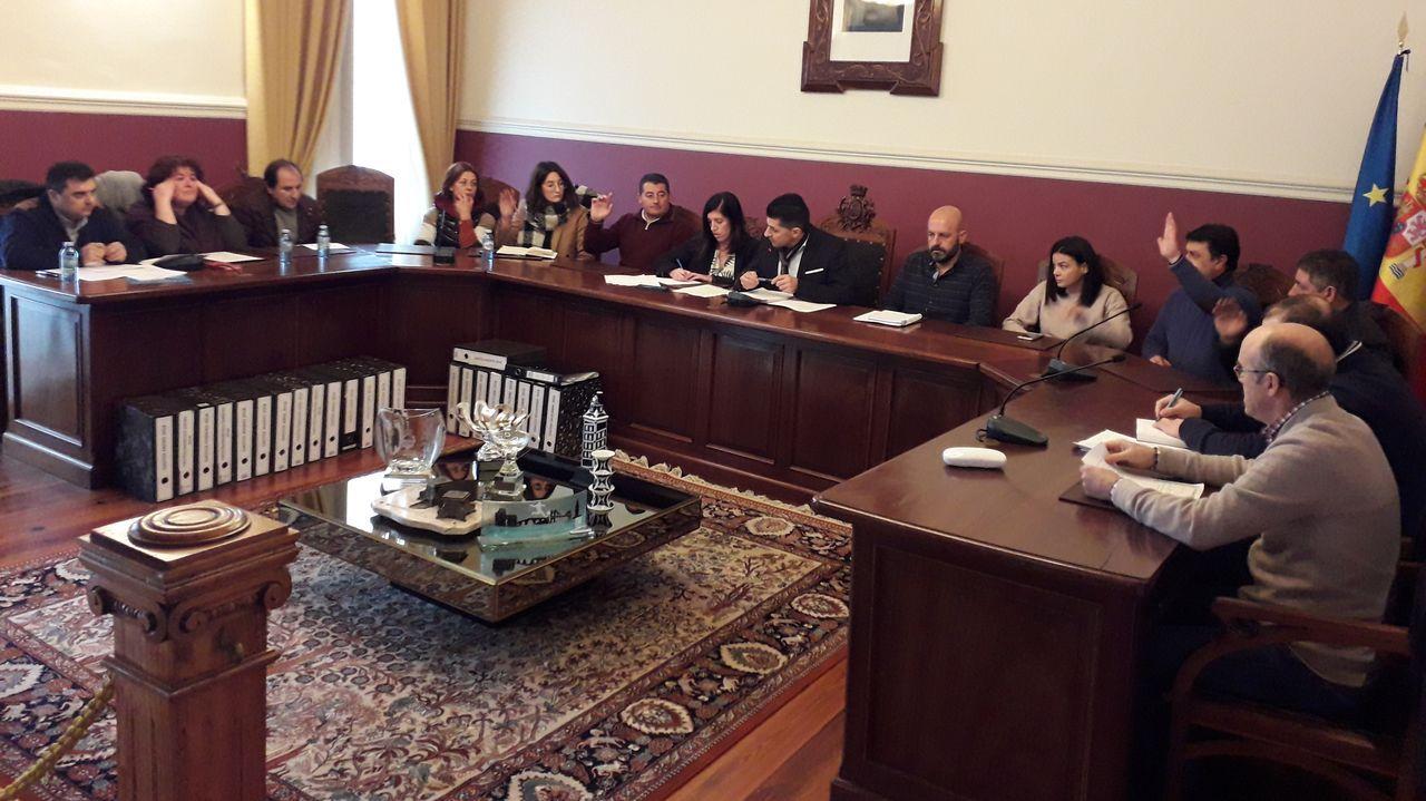 Pontevedra clama contra la violencia machista.Alumnos del CEIP Mestre Rodríguez Xixirei participan en la limpieza del río Sionlla, en Lavacolla