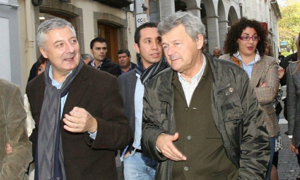 Gutiérrez con José Blanco, en una imagen de hace años, en el úitimo tramo de su etapa política.