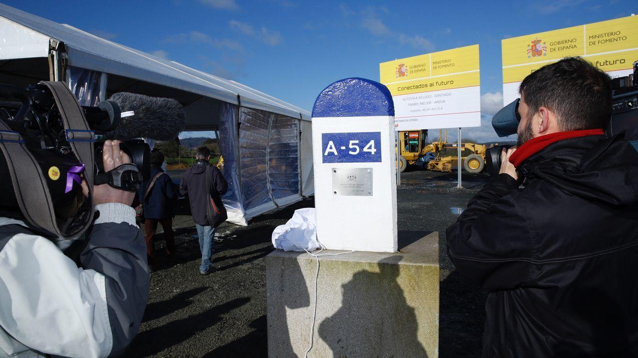 Inaguración de las obras del tramo Melide-Arzúa de la AG-54