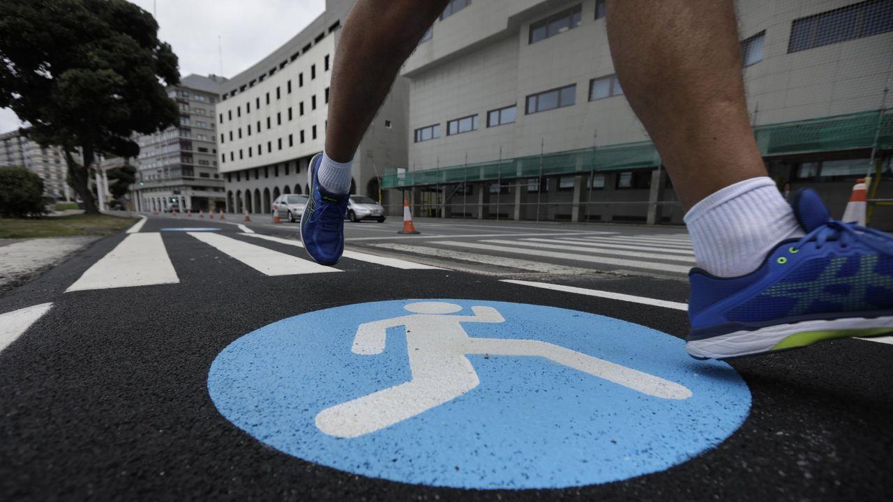 PRESENTACIÓN DEL CLUB DE EMPRESARIOS Y EJECUTIVOS DE GALICIA (CEEG).Carril runner en el paseo marítimo de A Coruña