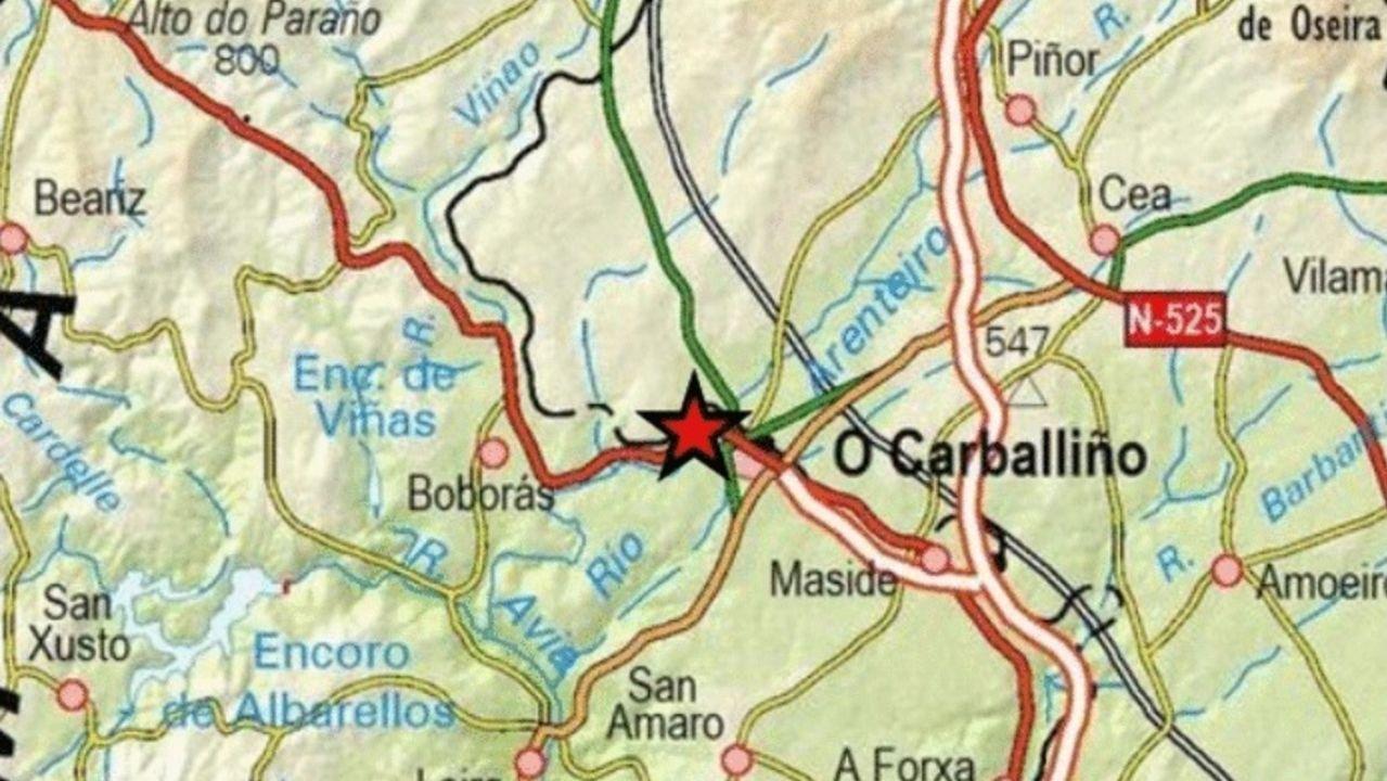 Entroido en septiembre.Marcos Sousa, vecino de Cartelle, sintió el temblor de tierra en Celanova