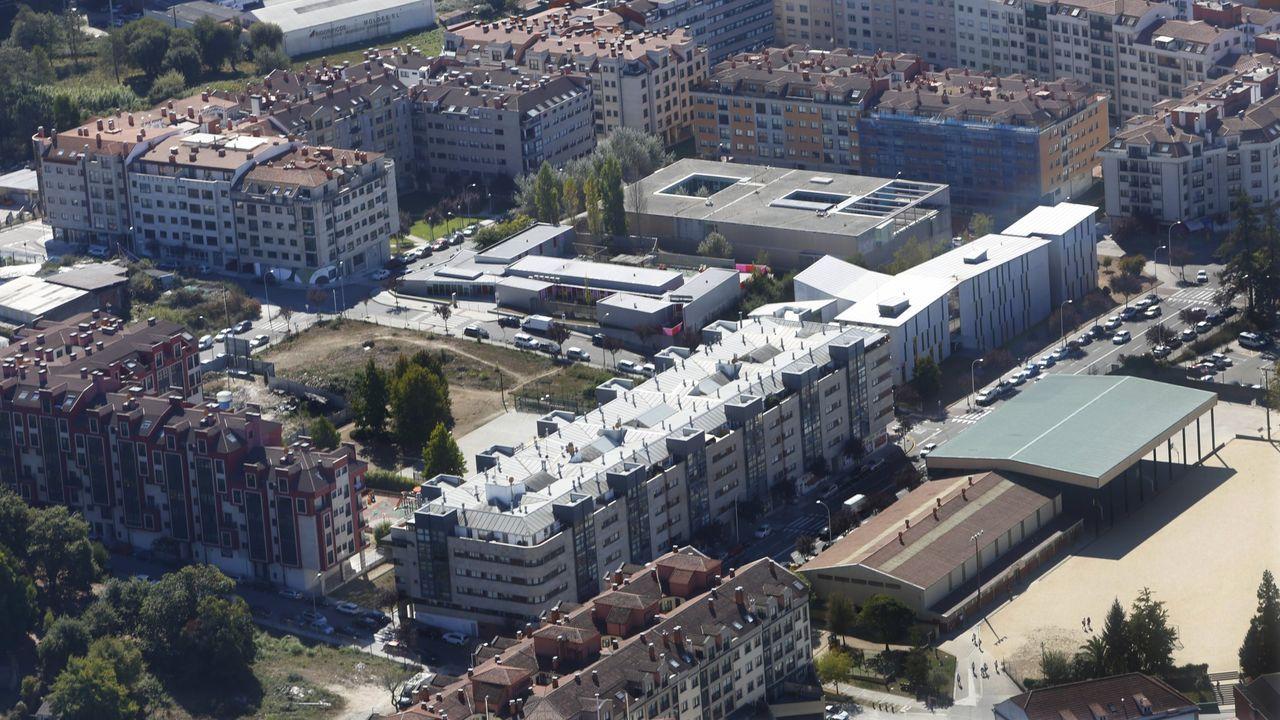 Vista aérea de la avenida Juan Carlos I de Pontevedra, donde se ubica el conservatorio Manuel Quiroga