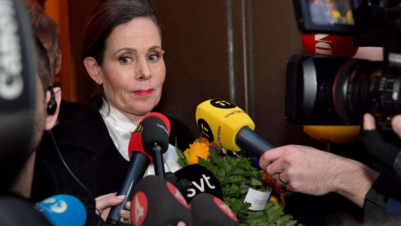 La secretaria permanente de la institución que otorga el premio Nobel de Literatura, Sara Danius