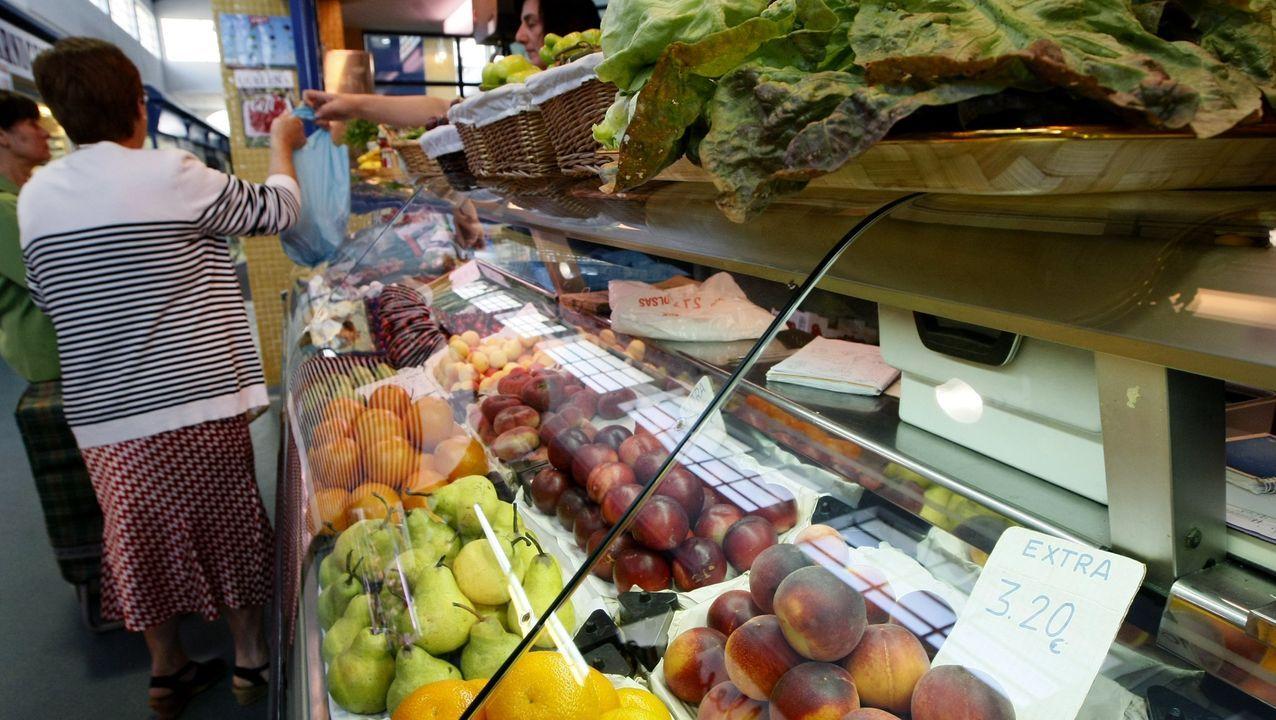 Primer día de mercado en Betanzos.Viñedo con black rot