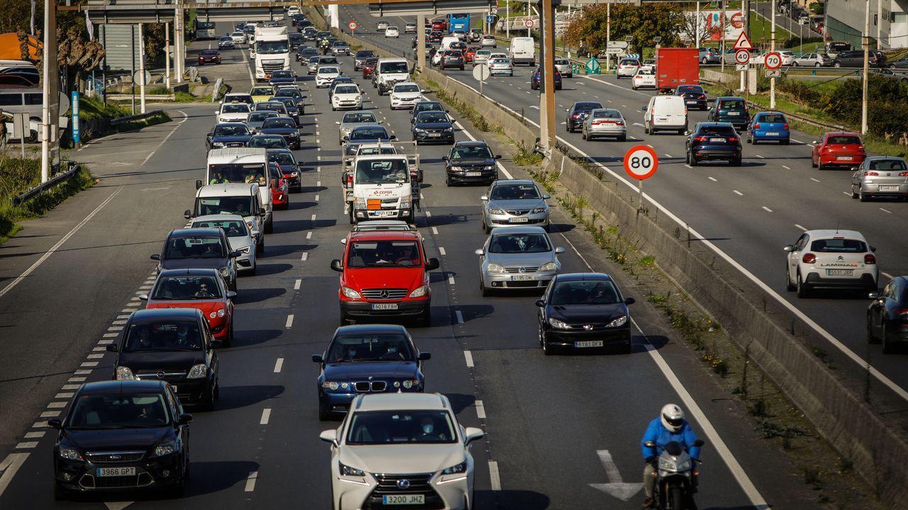 Tráfico denso en A Coruña