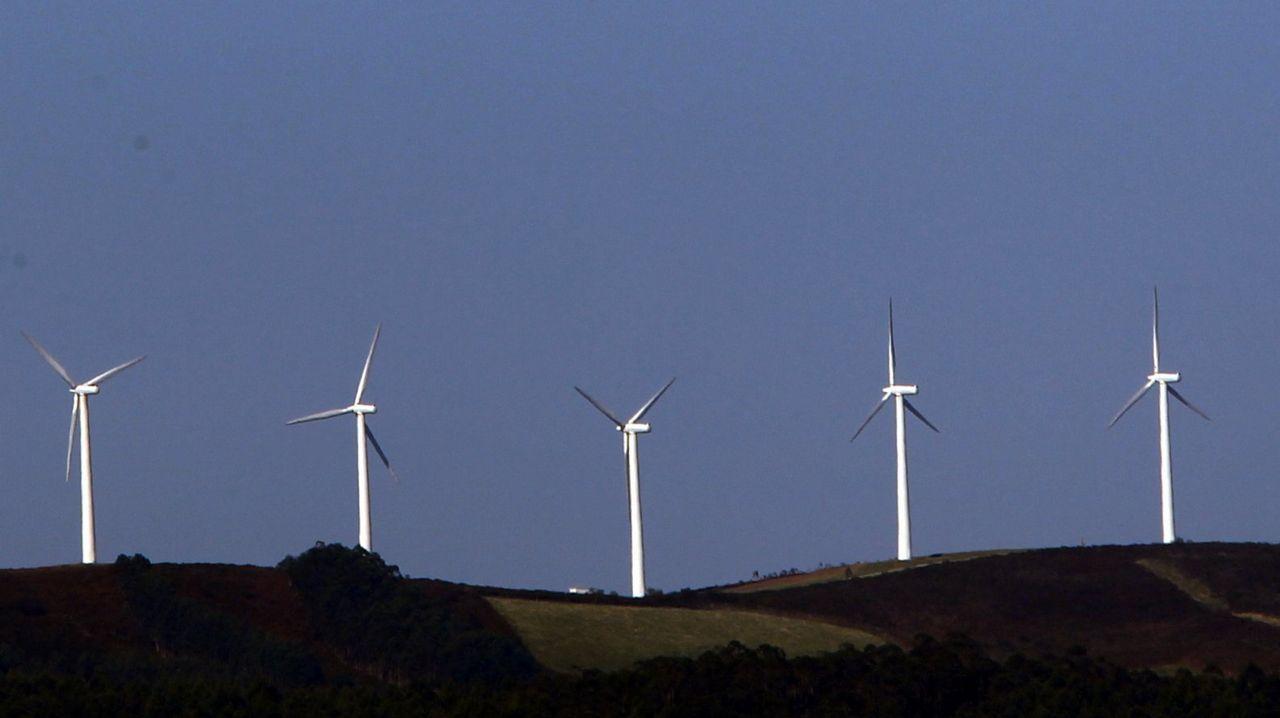 Galicia es la cuarta de España en potencia eólica.
