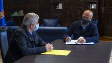 Jose Manuel Baltar firma el nombramiento de Miguel Caride como vicepresidente segundo de la Diputación