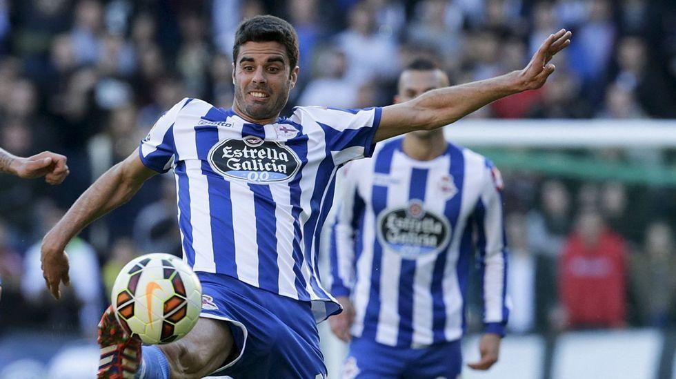 Floja temporada de Juan Domínguez, que no encontró su sitio en el equipo.