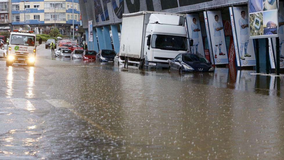 Inundaciones en Balaídos.
