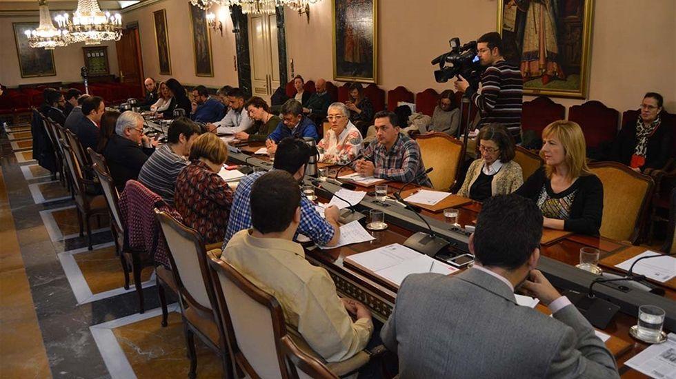 «El AVE no restará a Peinador más de un 10 o un 15% de sus pasajeros».Pleno del Ayuntamiento de Oviedo