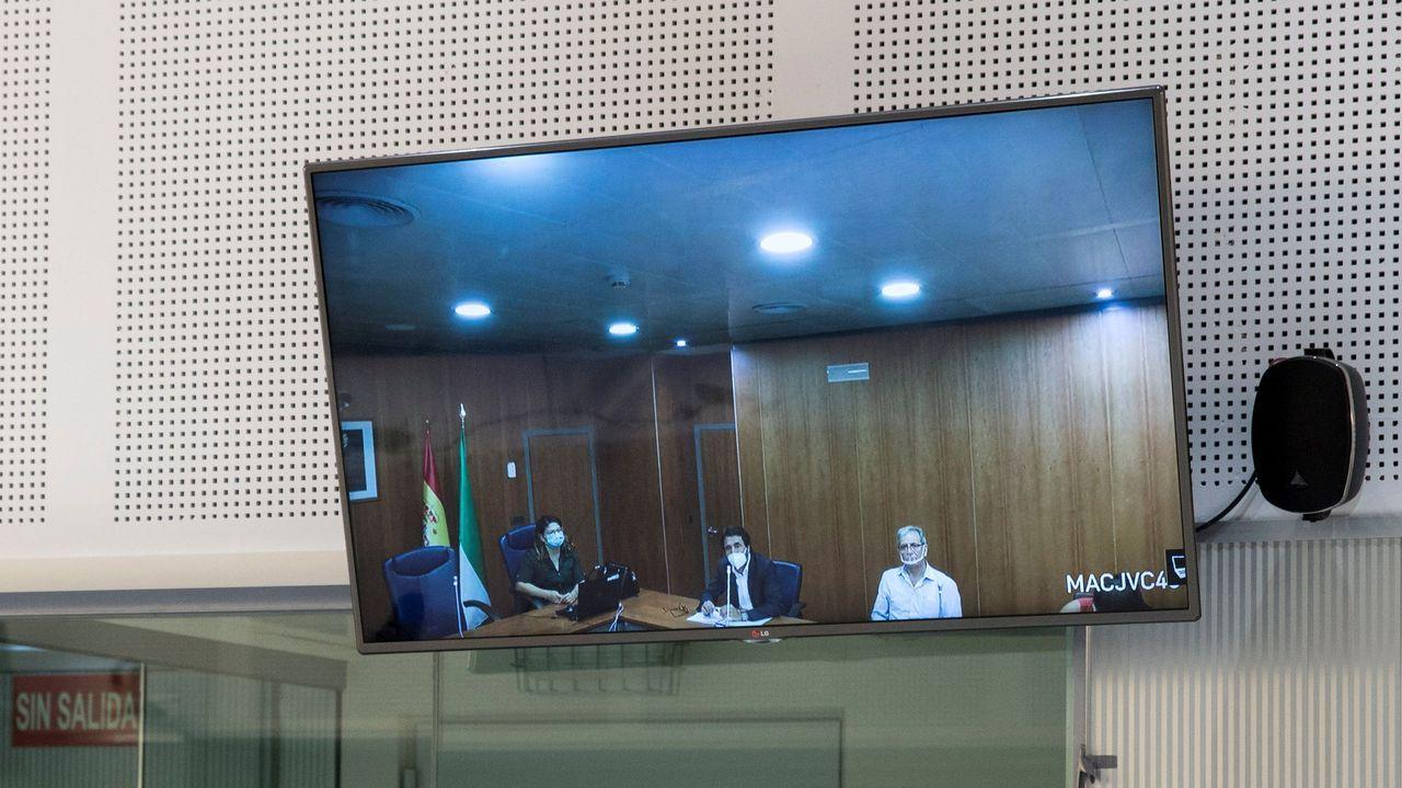 Imagen de la vista de extradición de Naris T. a Turquía, por videoconferencia, en la Audiencia Nacional