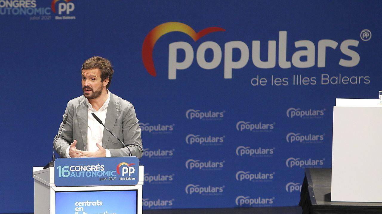 Pablo Casado, en un acto del Partido Popular