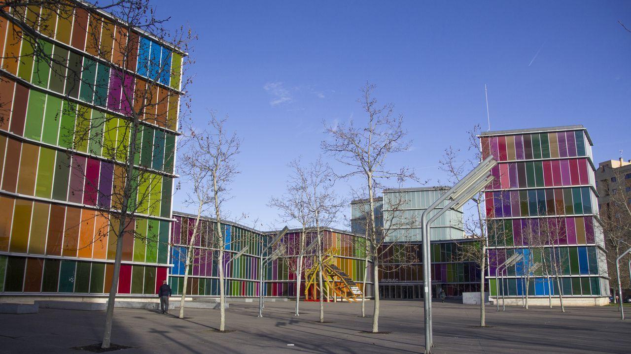 leon.El Museo de Arte Contemporáneo de Castilla y León (Musac) es obra de los arquitectos Mansilla y Tuñón, que firman otro de los edificios vanguardistas más célebres de la ciudad, el Auditorio Ciudad de León