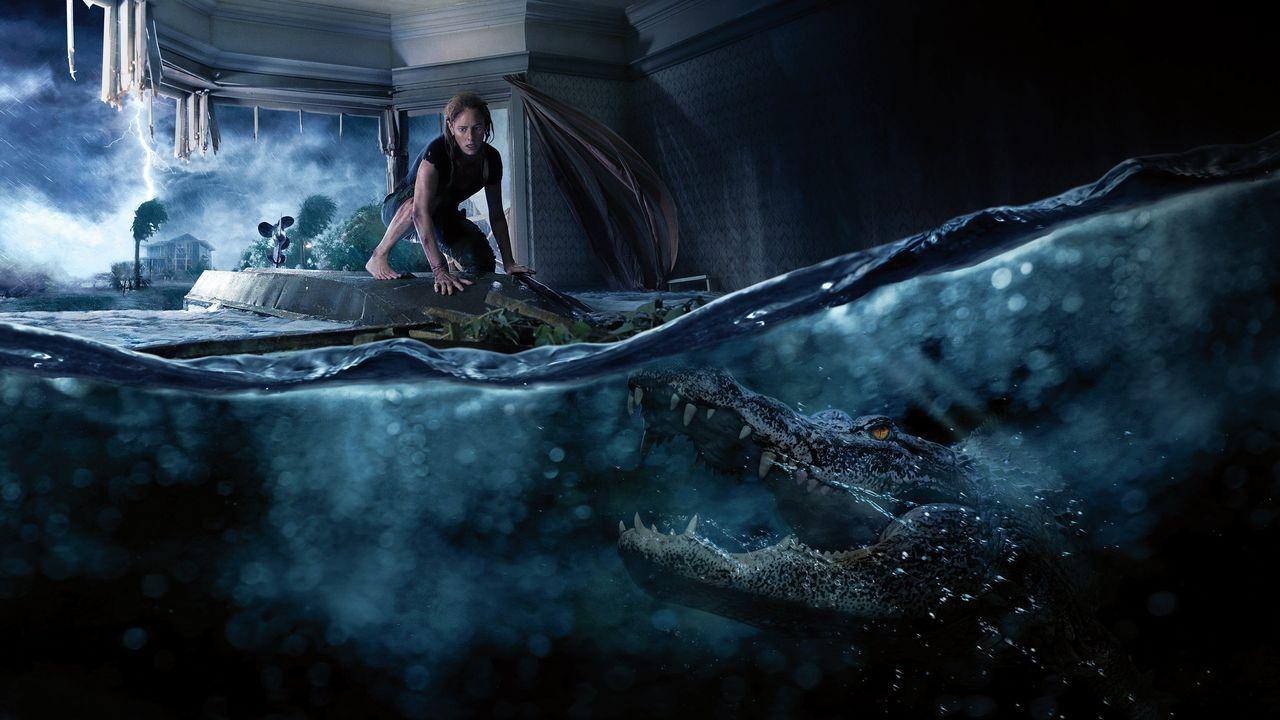 Paco Plaza estrena «Quien a hierro mata».Fotograma del filme de Alexandre Aja «Infierno bajo el agua»