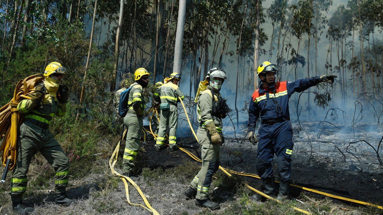 Incendio en Cenlle.Mapa de riesgo de incendios en Asturias el 2 de septiembre de 2019