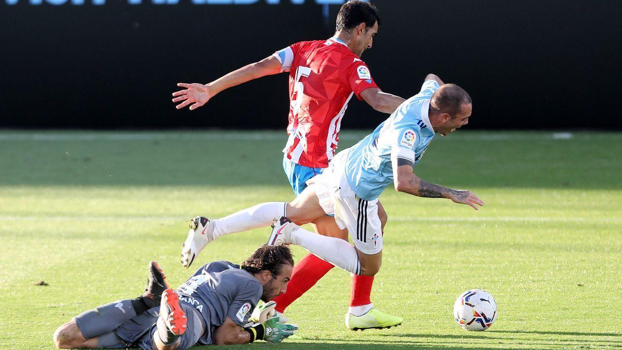 Aspas explica su gol de falta: «Entró por donde quería»