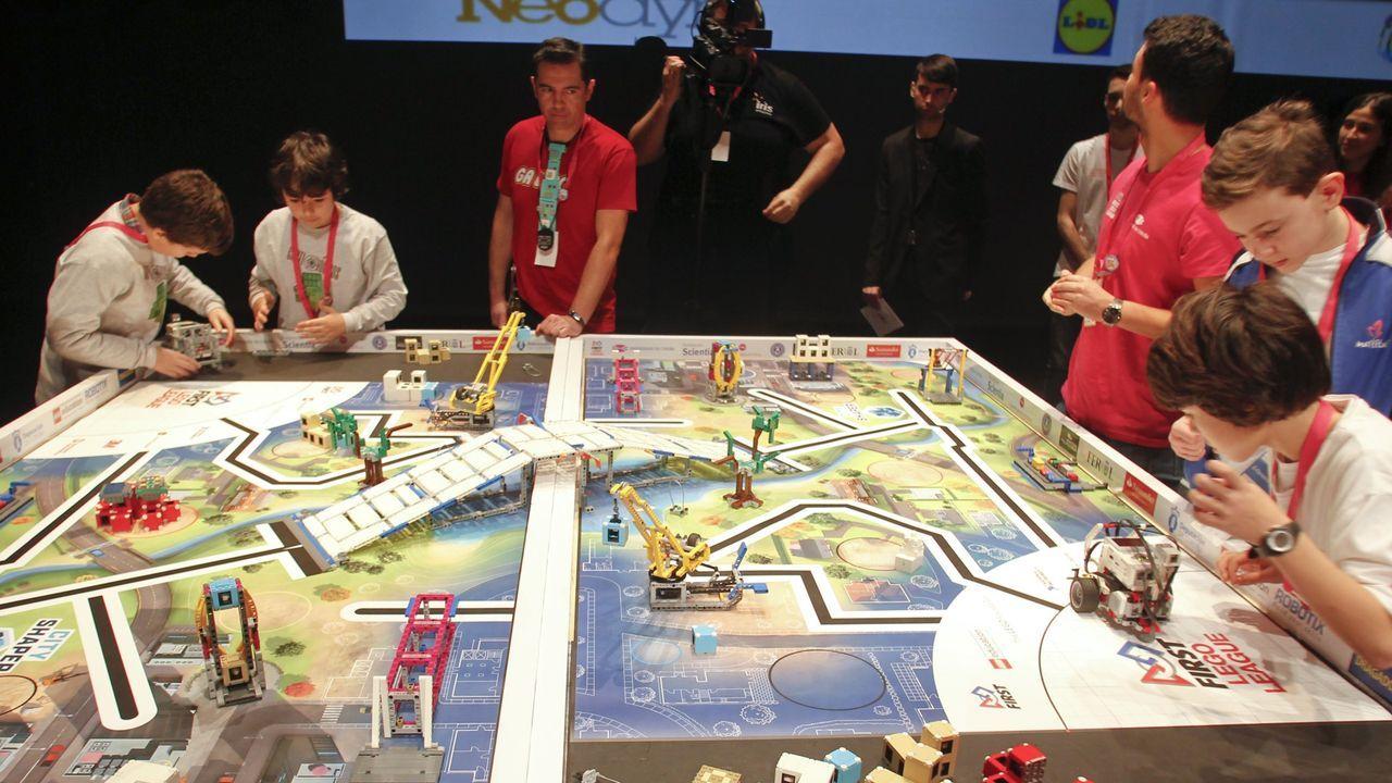 Imagen de la pasada edición de la First Lego League Galicia, celebrada en febrero del 2020 en el Auditorio de Ferrol de manera presencial