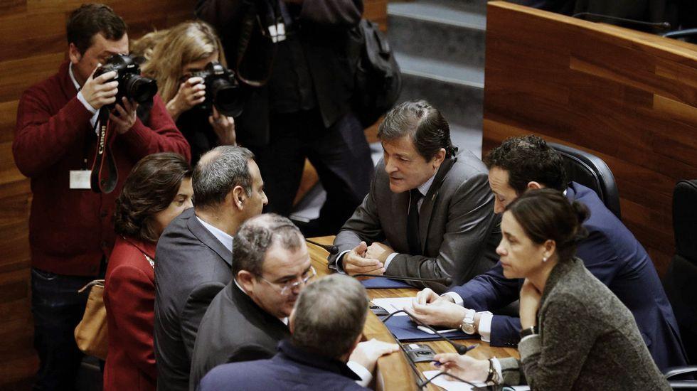 El portavoz de Podemos Asturies, Emilio León