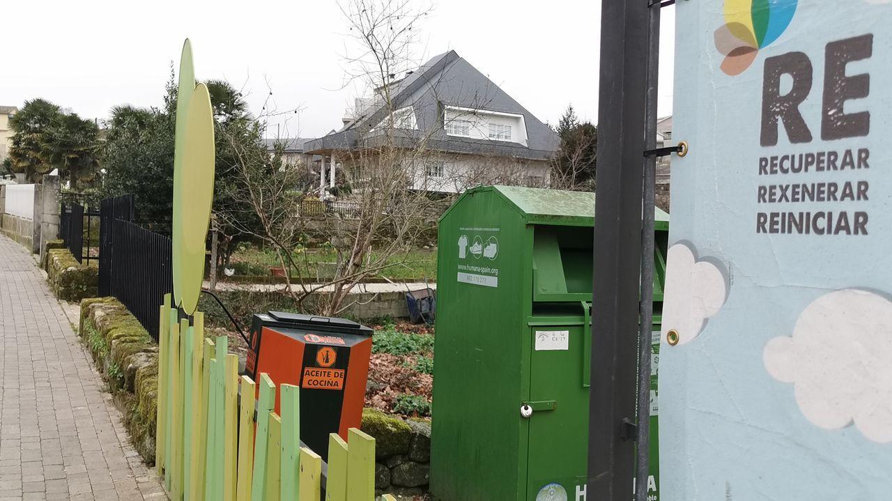 Contenedores de reciclado en Allariz