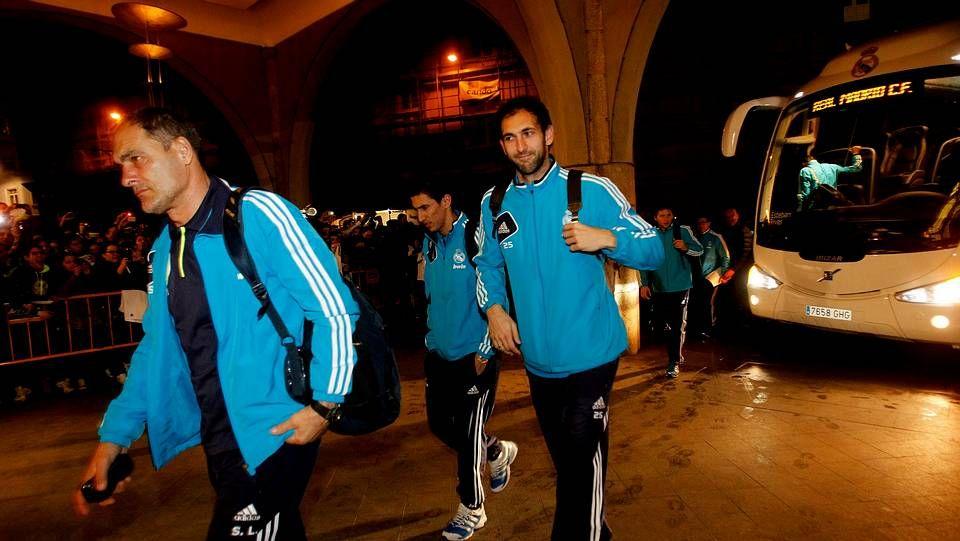 La llegada del Real Madrid a A Coruña
