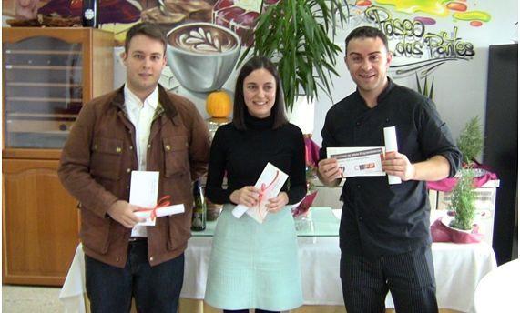Pablo Armengol, Araceli Novo y Fernando González ganaron el concurso de ideas emprendedoras.