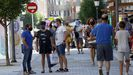 Calle peatonal de Boiro, concello que lleva una semana sin registrar ningún contagio