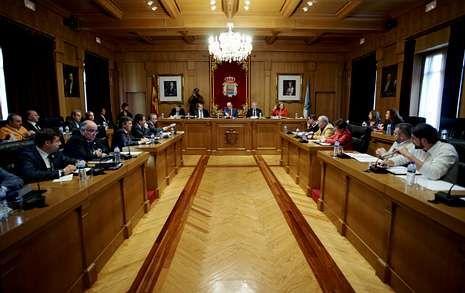 Imagen del salón de plenos, que hoy acogerá el debate sobre el estado de la provincia.