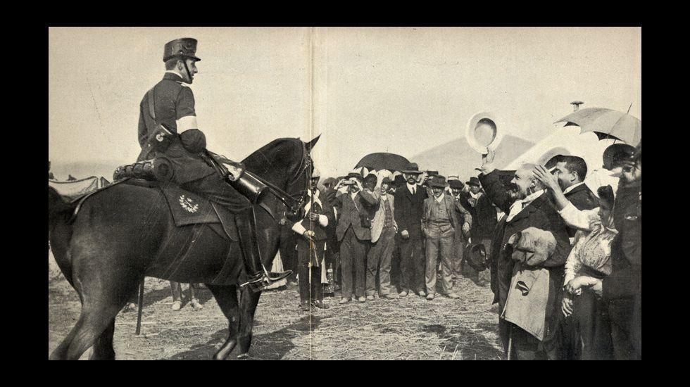 Imágenes históricas de las maniobras militares de Bóveda en 1907