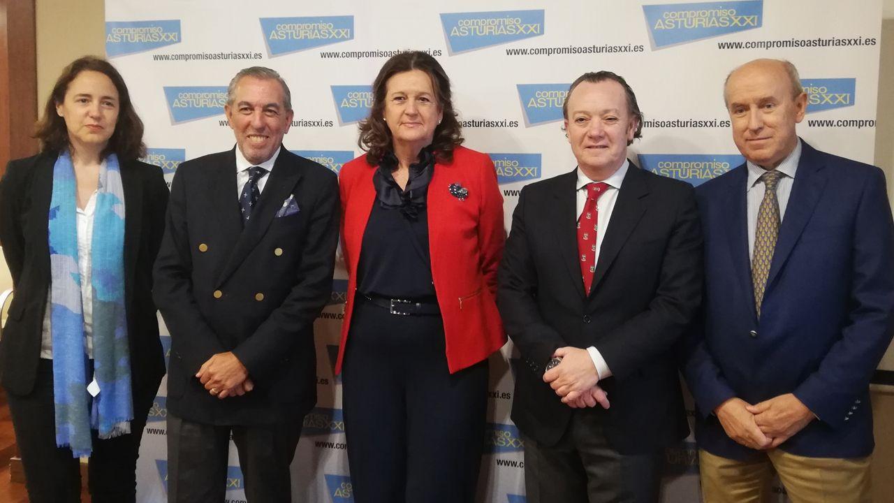 Vicente Gotor, Juan Vázquez,.Nueva Junta Directiva de Compromiso Asturias XXI