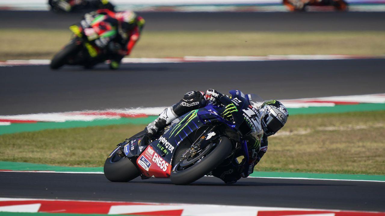 Rossi, durante los actos con motivo de la última carrera en Le Mans