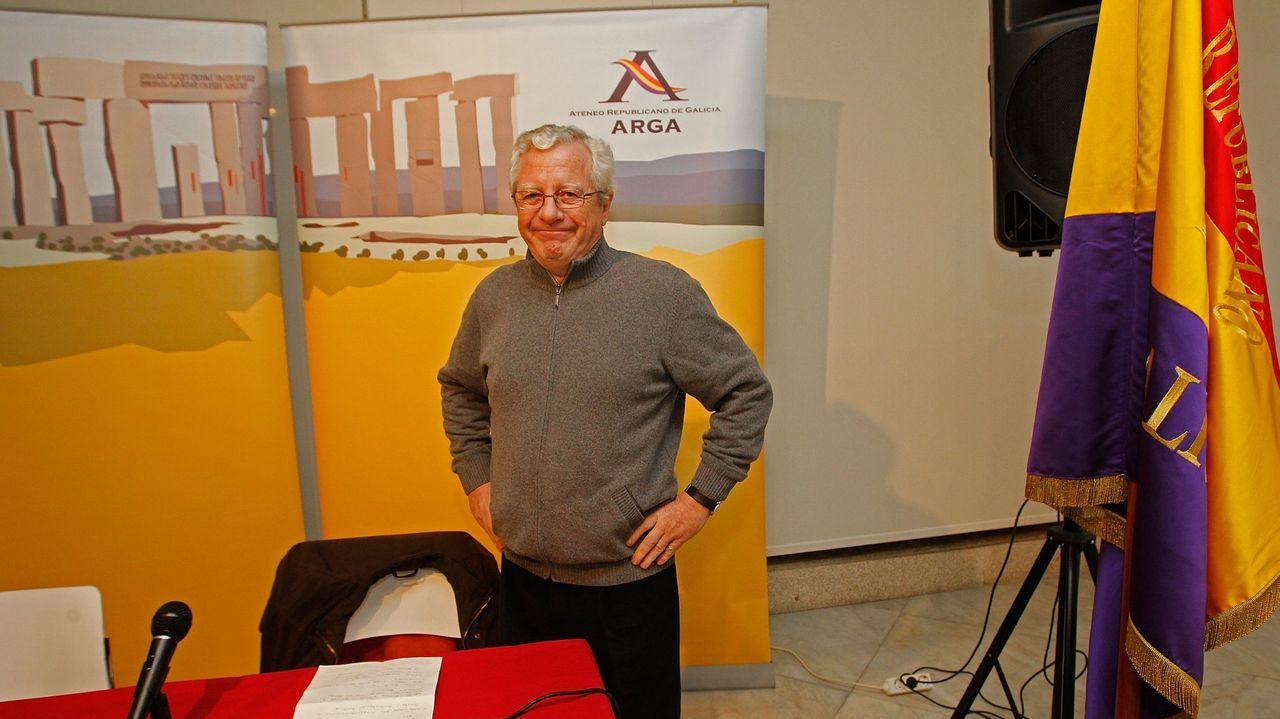 Jorge M. Reverte, en un acto del Ateneo Republicano de A Coruña