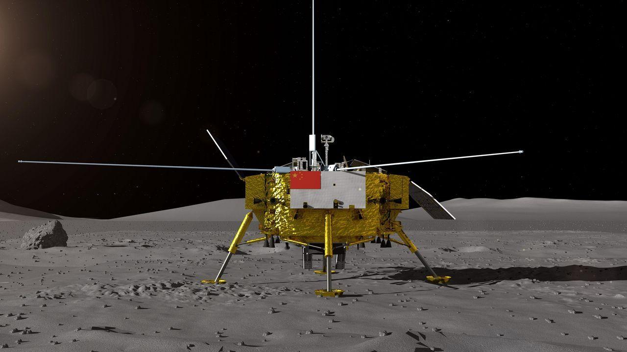 Impresión artística facilitada por el Centro de Ingeniería Espacial y Exploración Lunar de la Administración Nacional Espacial de China